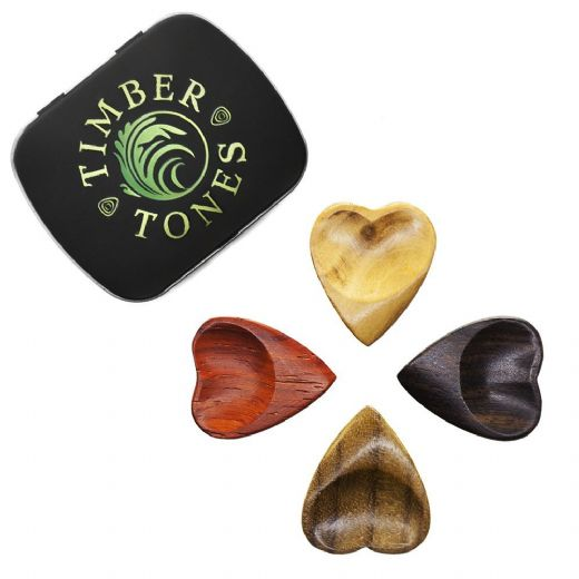 Heart Tones Mixed Tin of 4 Guitar Picks